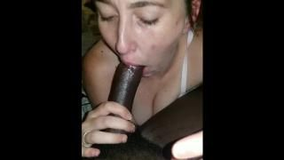 Wife gagging on